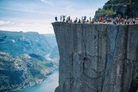 Pulpit Rock Cliff in Norway  5345