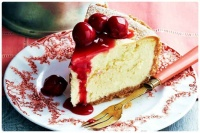 A Delicious Slice of Cherry Cheesecake